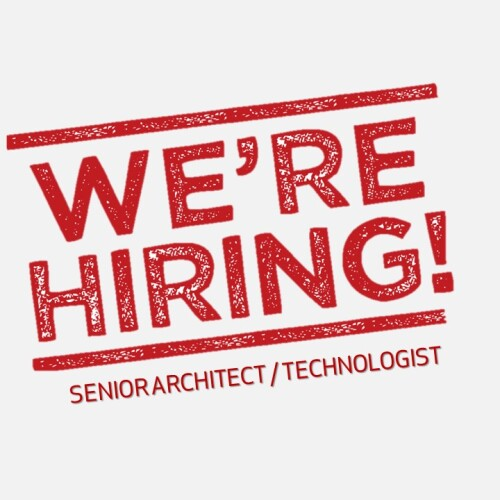 We are hiring ARCHITECT